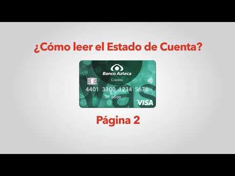 Conoce el estado de cuenta de tu Tarjeta VAS de Banco Azteca.